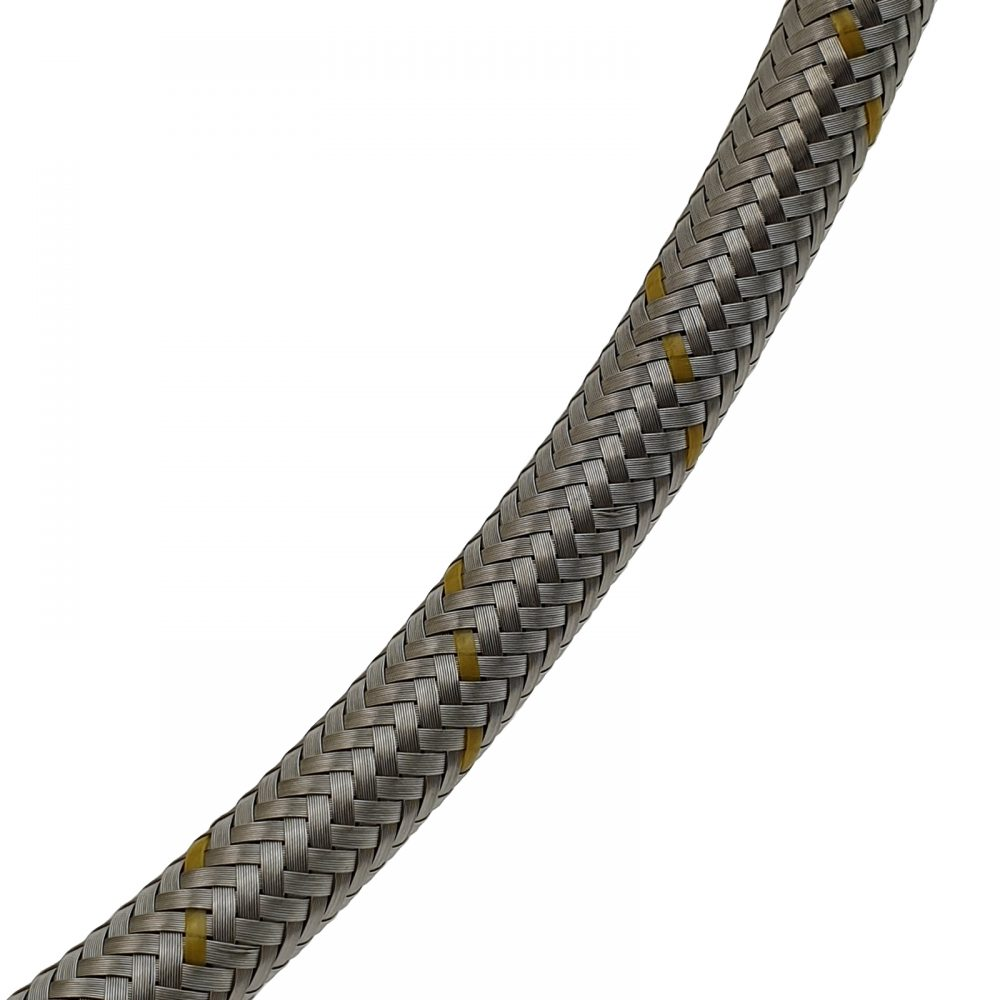 """Gas Hose - Stainless Steel 3/8""""SAE-female to 1/2""""BSP-male"""