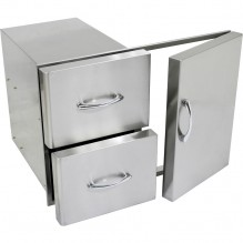 Grand Fire Double Drawer Door