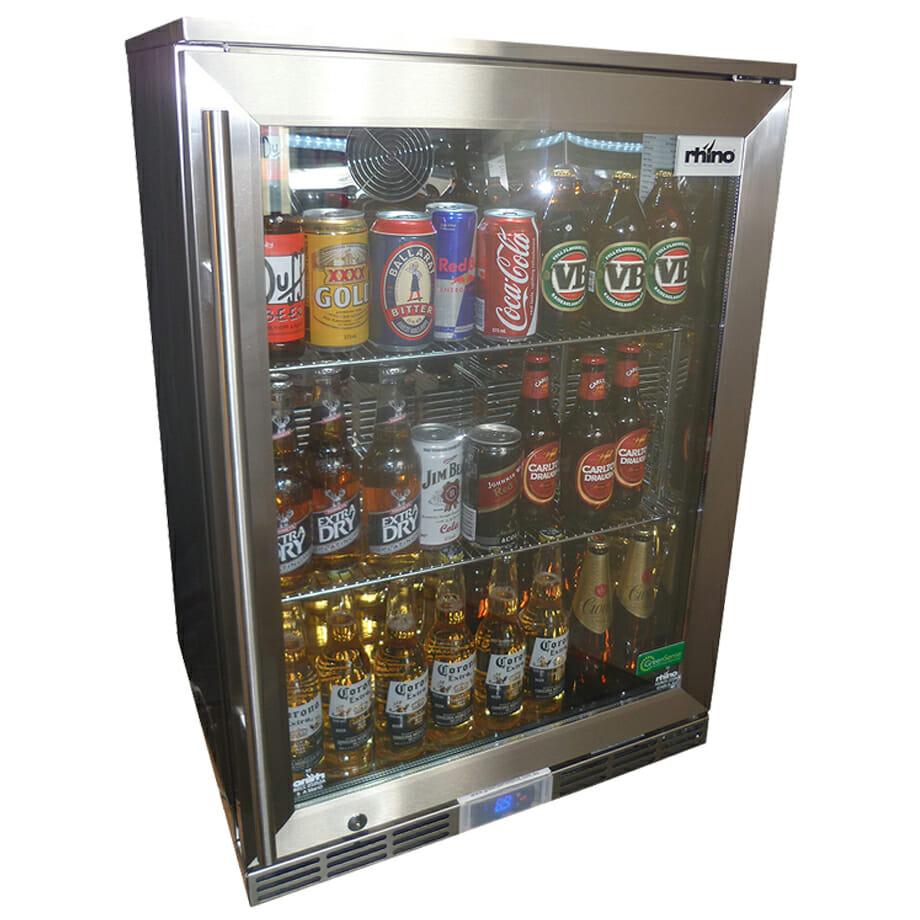 Rhino Glass Door 129L Alfresco Bar Fridge - GSP1H-840-SS