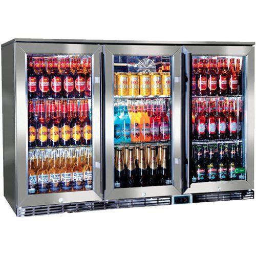 Rhino Glass 3 Door Energy Efficient Alfresco 330L GSP3H-SS
