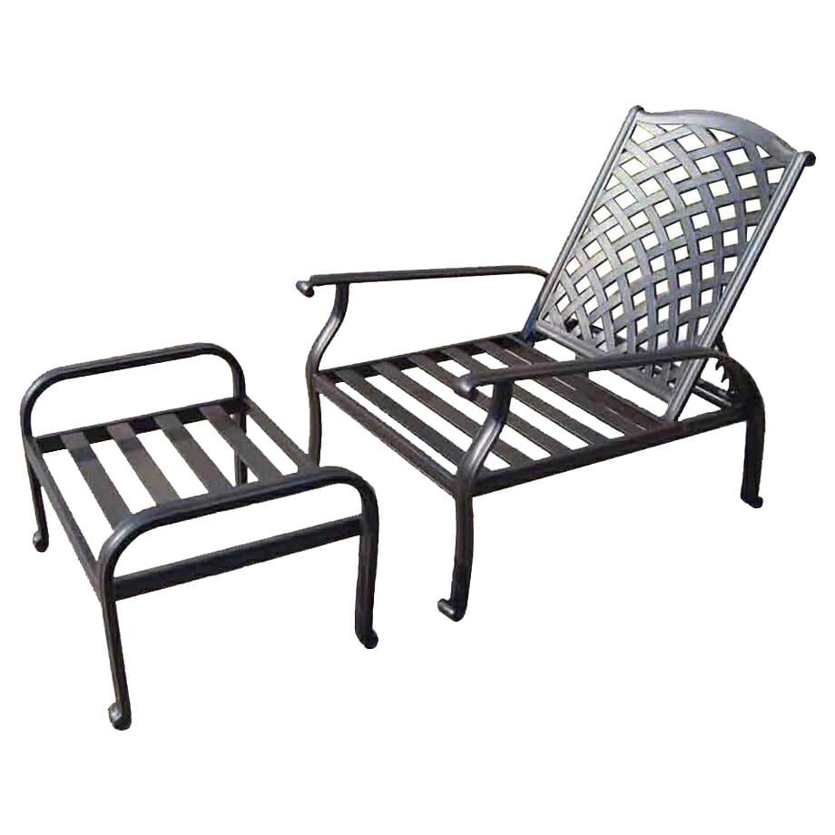 Melton Craft LD8176-Chaise Chair Ottoman