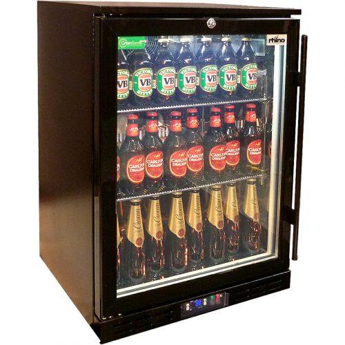 Rhino - Black Commercial Glass Door Bar Fridge Rhino Energy Efficient SG1HL-B