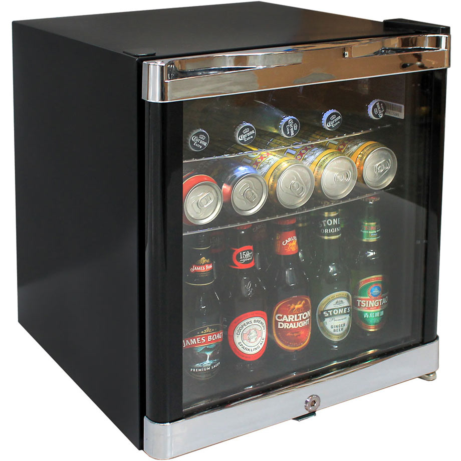 Husky Tropical Glass Door Mini Bar Fridge 50 Litre Hus Sc50