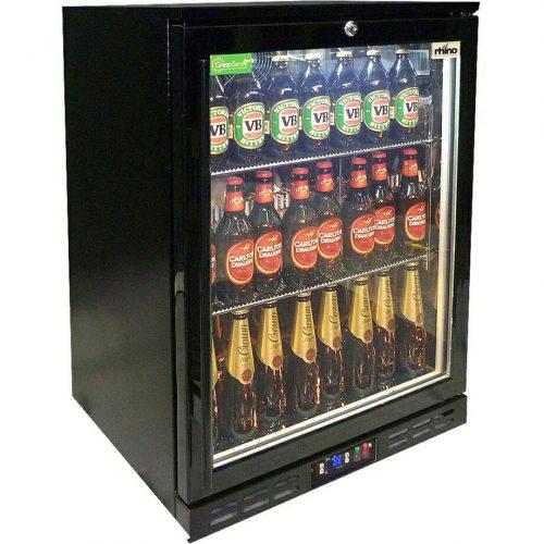 Rhino - Black Commercial Glass Door Bar Fridge Rhino Energy Efficient SG1HR-B