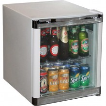 Husky Tropical Glass Door Mini Bar Fridge 50 Litre - HUS-SC50W