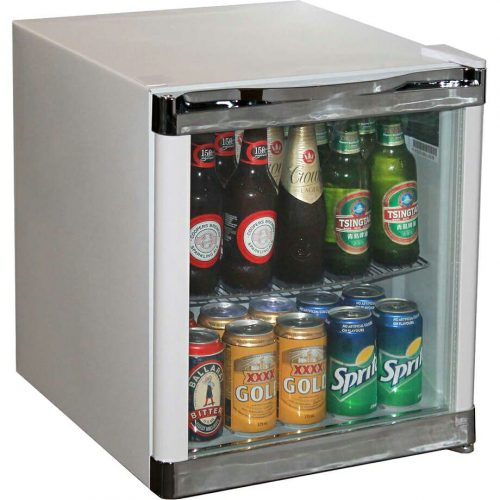 Husky Tropical Glass Door Mini Bar Fridge 50 Litre - HUS-SC50W