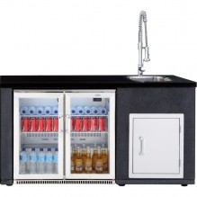 Beefeater Artisan Double Door Fridge and Sink Module