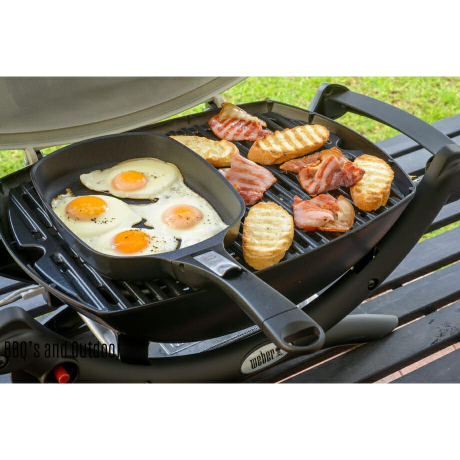 weber q ware cookware large fry pan. Black Bedroom Furniture Sets. Home Design Ideas