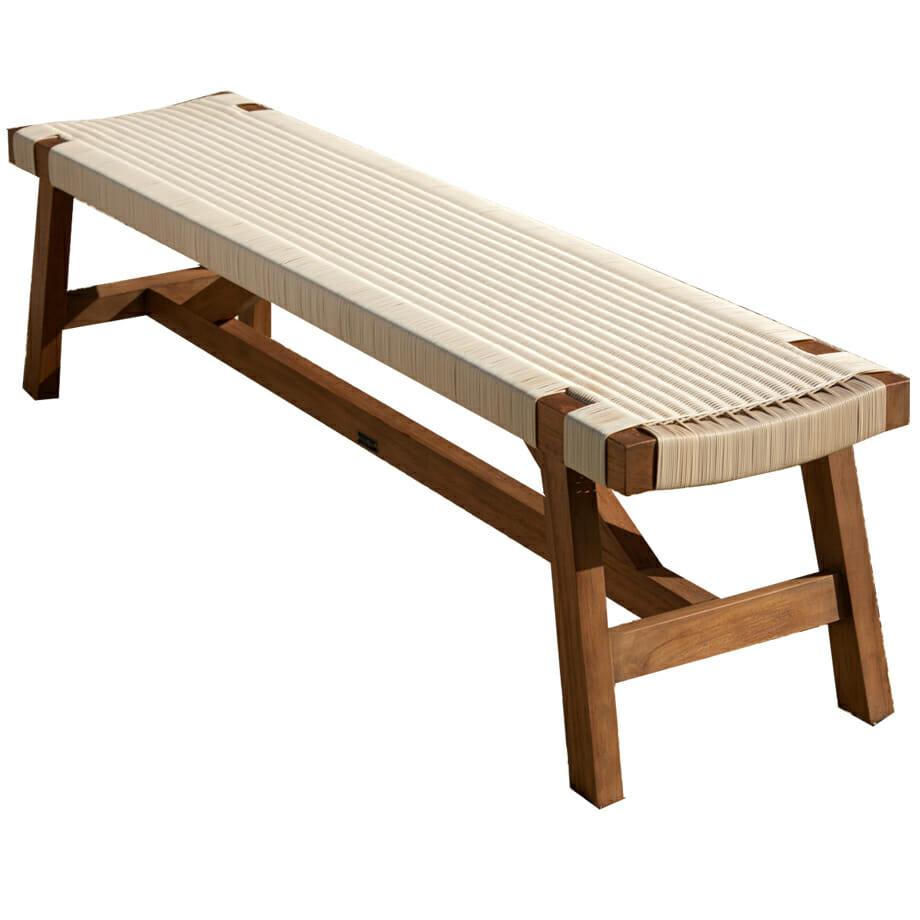Melton Craft Corfu Bench Manu White Wicker
