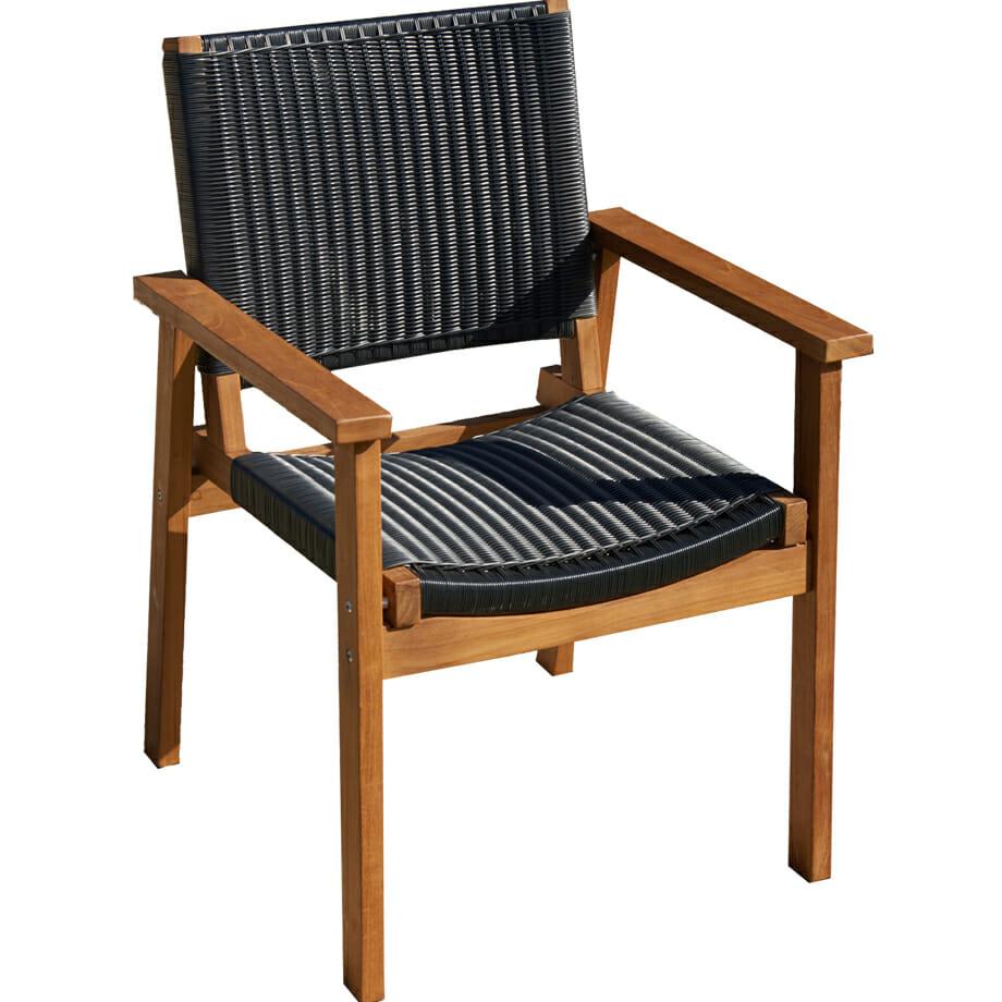 Melton Craft Corfu Chair - Black Wicker