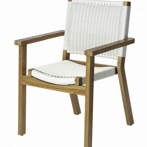Corfu chair white wicker