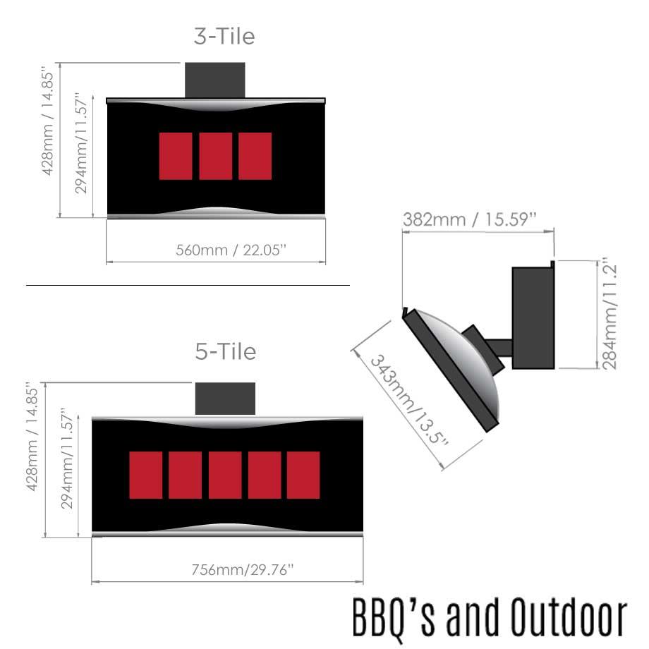 Platinum-Smart-Heat-Outdoor-Heater-Dimensions