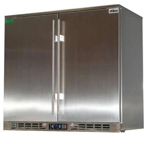 Rhino Stainless Steel 2 Door All Stainless Steel Bar Fridge