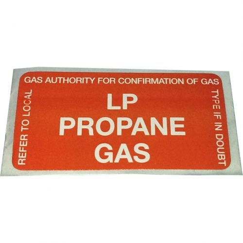 LP Propane Compliance Conversion Gas Sticker