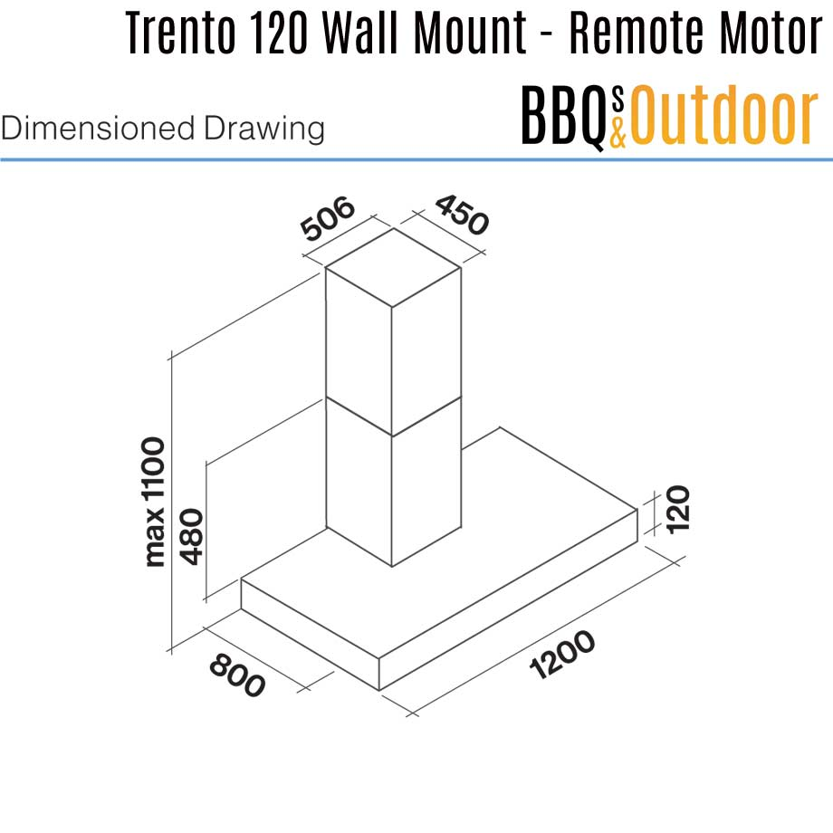 Falmec-trento-120-wall-mount-dimensions