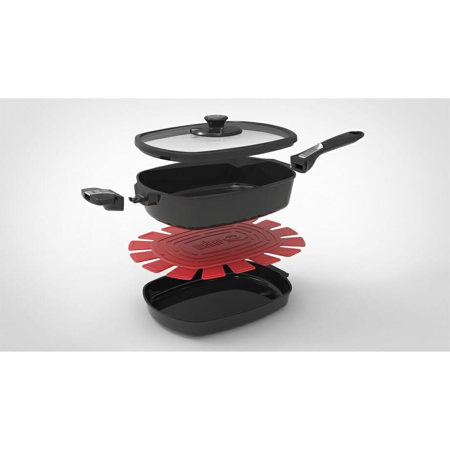 Weber Q Ware Large Casserole Dish & Fry Pan Pack