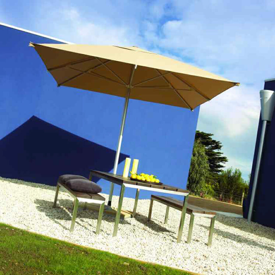Instant Shade Centre Post 2 m Acrylic Square Outdoor Umbrella