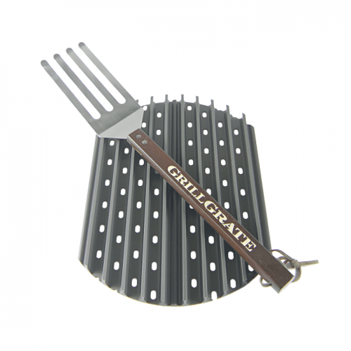 """Grill Grate 13.75 x 15.4"""" - to suit Weber Smokey Joe and Big Green Egg Minimax"""