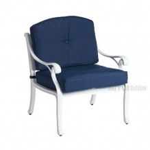 Nassau Deep Seat White and Blue