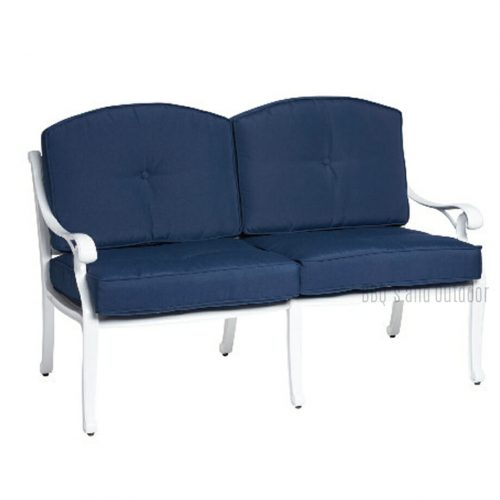 Nassau2 Seater Deep Seat White and Blue