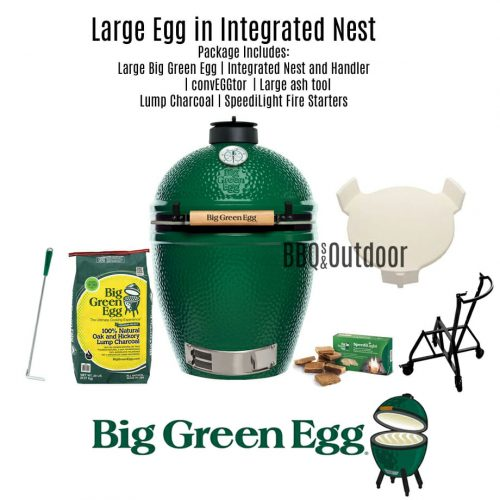 Big Green Egg Large - Integrated Nest and Handler Package