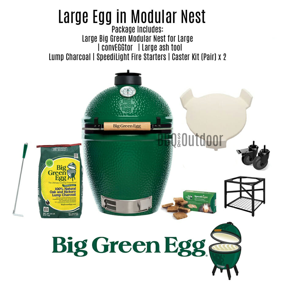 Big Green Egg Large - Modular Table Package