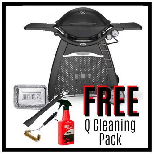 Weber Family Q Premium 3200 – Black - FREE Cleaning Pack