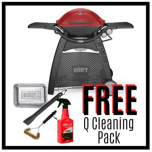 Weber Family Q Premium 3200 – Red - FREE Cleaning Pack