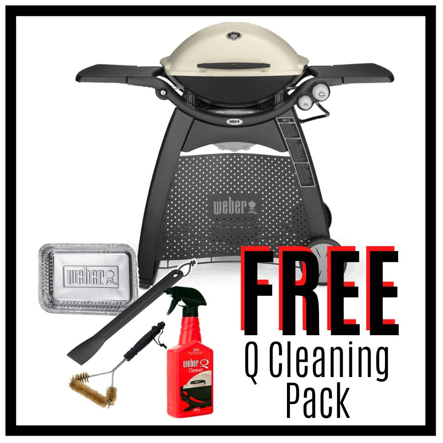 Weber Family Q Premium 3200  – Titanium - Natural Gas - FREE Cleaning Pack