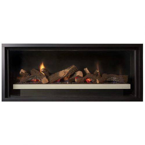 Cannon Latitude 1000 Powerflue Gas Fireplace - Built In