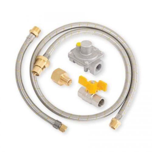 Gasmate - Natural Gas Regulator and Hose Kit with Ball Valve