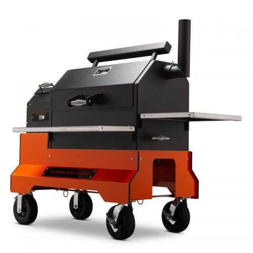 Yoder YS640S Competition Cart Pellet Grill - Orange - Limited Stock