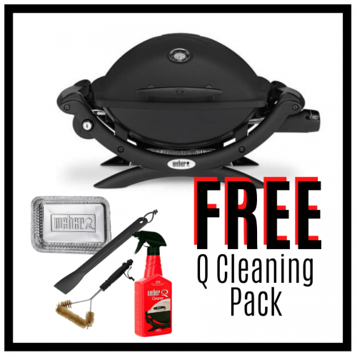 Weber Baby Q Premium 1200 - Black - Free Cleaning Pack