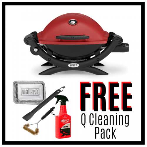 Weber Baby Q Premium 1200 - Red - FREE Cleaning Pack