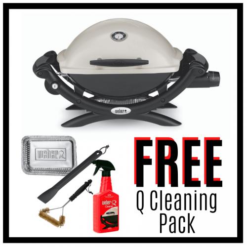Weber Baby Q Premium 1200 - Titanium - FREE Cleaning Pack