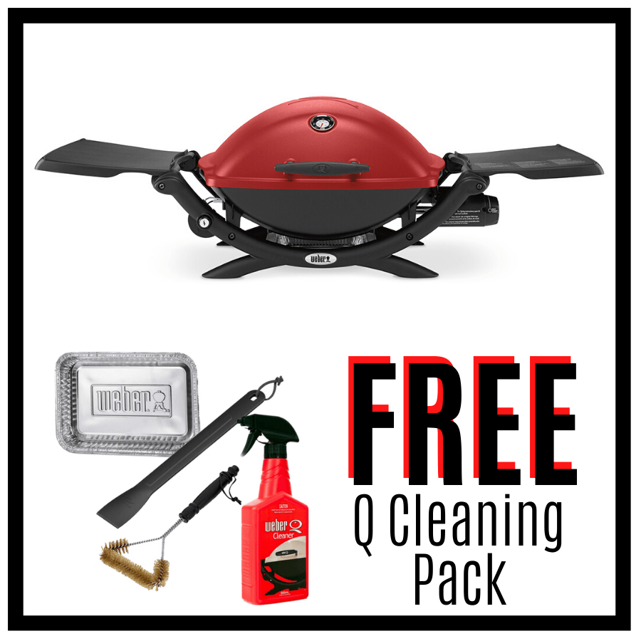 Weber Q Premium 2200 - Red - FREE Cleaning Pack