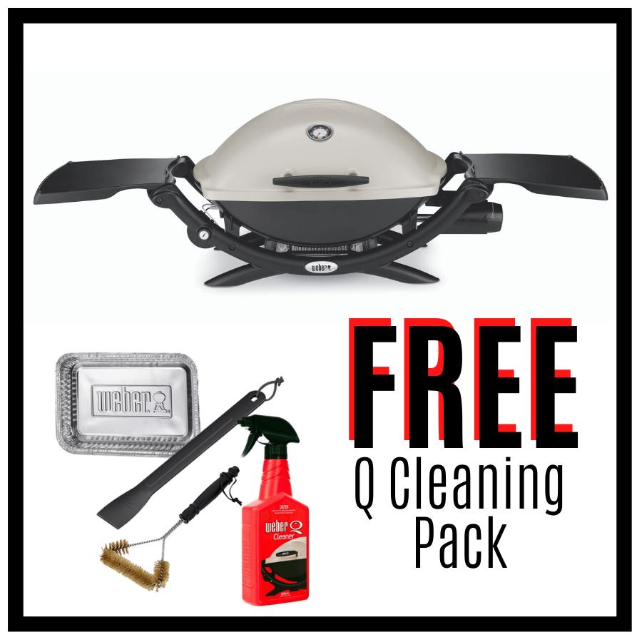 Weber Q Premium 2200 - Titanium - Natural Gas - FREE Cleaning Pack