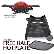 2200R on Patio Cart Free Half Hotplate