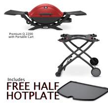 2200R on Portable Cart Free Half Hotplate