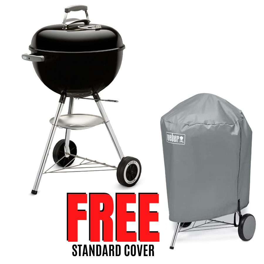 Weber 57cm Master Touch Plus Kettle with Gourmet Barbecue System Grill - FREE Standard Cover