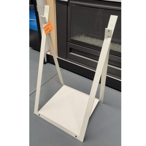 Fireplace Accessories - Log Holder White - FLOOR STOCK