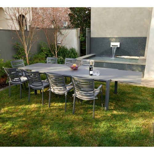 Melton Craft - Portsea Extension Table with 10 Chairs - Package - LIMITED STOCK
