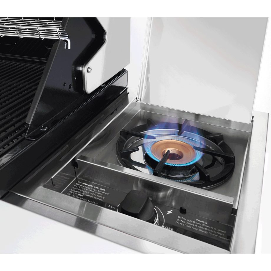 BeefEater 1200 4 Burner - Trolley BBQ with Side Burner