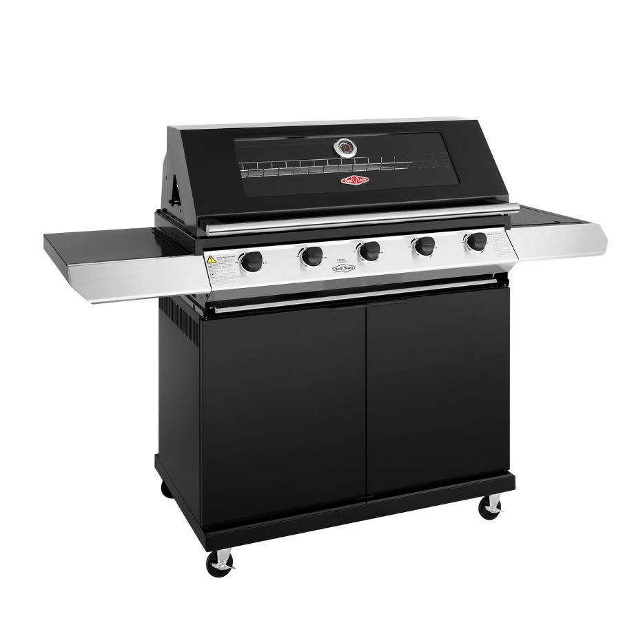 BeefEater 1200 5 Burner - Trolley BBQ with Side Burner