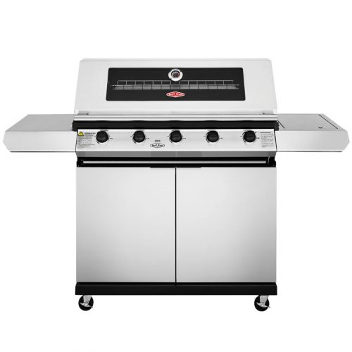BeefEater 1200 4 Burner SS – Trolley BBQ with Side Burner