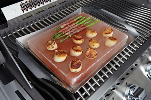 Napoleon - Himalayan Salt Block with Stainless Steel Topper