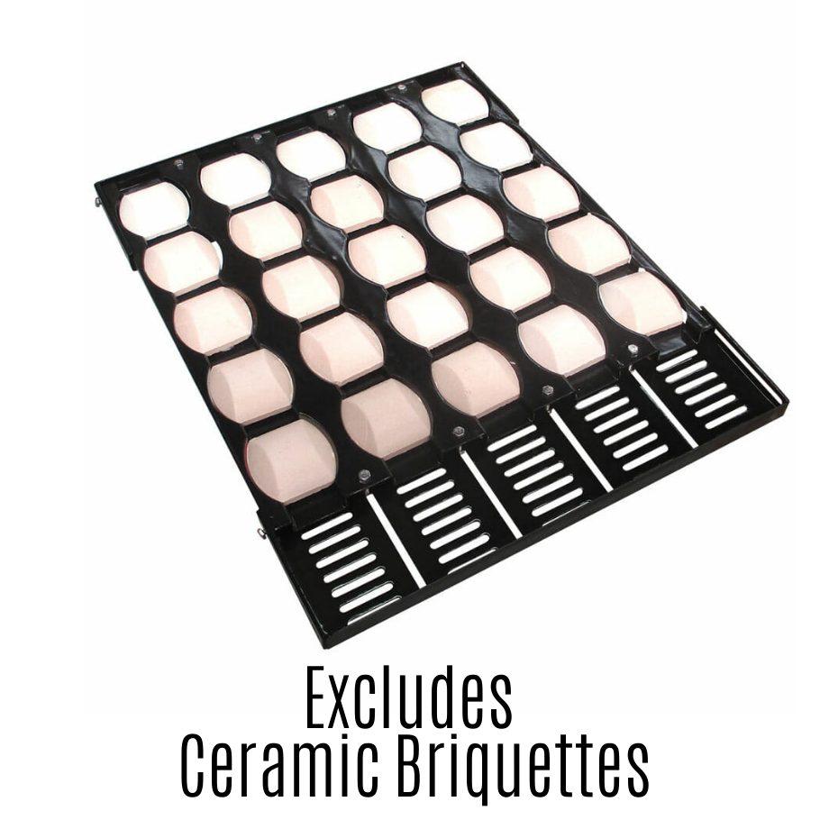Gasmate Flame Tamer - Adjustable Ceramic Briquette - Without Ceramic Bricks
