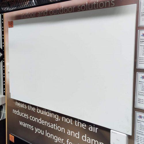 Herschel - Select XLS White Frameless Infrared Panel Heater - FLOORSTOCK