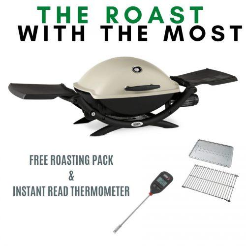 Weber Q Premium 2200 - Titanium - FREE Roasting Pack and Instant Read Thermometer