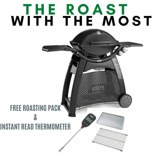 Weber Family Q Premium 3200 – Black - FREE Roasting Pack and Instant Read Thermometer